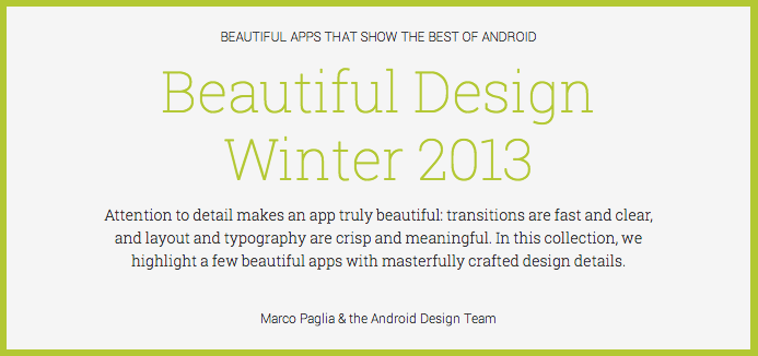 Android Beautiful Design